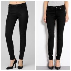 "Paige Hoxton Ultra Skinny in Gloss Still available on Paige.com for $179.00! Stags still attached, but doesn't include price tag. 70% Cotton and 30% Polyester. 30"" inseam. Paige Jeans Jeans Skinny"