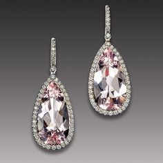 Mark Patterson Morganite and Diamond Earrings.