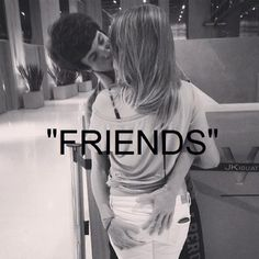 """""""friends"""" quote quotes quotes & things words word kissing boy and girl love seeing each other kisses kiss lovers couple"""