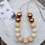 Marbleous Jewellery Set - Ecru/Marble/Copper
