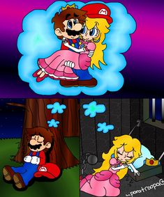 039 - Dreams by paratroopaCx on DeviantArt Mario Fan Art, Super Mario Art, Mario Comics, Pugs, Mario And Princess Peach, Princesa Peach, Fun Games For Kids, Mario And Luigi, Mario Brothers