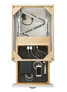 Wardrobe Design for electronic or technological gadgets ThingsSimplified interior architecture ideas innovative Garderobe Design, Diy Furniture, Furniture Design, Home Organization, Wardrobe Organisation, Home Projects, Project Projects, Woodworking Projects, Woodworking Jigs
