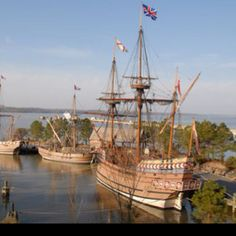Jamestown and Yorktown, Virginia--replicas of the Nina, Pinta and Santa Maria // That's more like it.