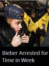 Latest News:  Bieber Arrested for 2nd Time in Week. Yet more criminal trouble for Justin Bieber: He turned himself in at a Toronto police station last night, where he was charged with assault and then quickly released, CBS News reports.  Read the article here:  ttp://bit.ly/1lpwyRc    Get all the latest news on your favorite celebs at www.CelebrityDazzle.com!