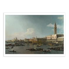 £0.70. Canaletto: Venice, The Basin of San Marco on Ascension Day Postcard.  About the painting: This work and its companion piece, 'A Regatta on the Grand Canal', are among the grandest views of Venice that Canaletto made for the many wealthy visitors who flocked to see the city and to witness the impressive public ceremonies held on the Grand Canal.