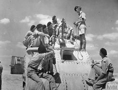 Trainee crews practising gun cleaning on Grant, Crusader and Sherman tanks. Gin Images, Thunder Strike, North African Campaign, Afrika Korps, Sherman Tank, Armored Fighting Vehicle, British Army, Armored Vehicles, Military History
