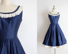 RESERVED...Vintage 1950s Dress / 50s Cotton by TuesdayRoseVintage