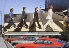 "1969 Billboard for The Beatles Album, ""Abbey Road"", in Los Angeles, CA. : OldSchoolCool Beatles Art, The Beatles, Joe Cocker, Abbey Road, Fort Lauderdale, Pink Floyd, Pochette Album, Fotografia, Photography"