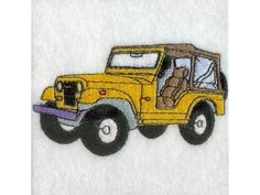 Jeeps Machine Embroidery Designs http://www.designsbysick.com/details/jeeps