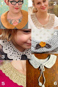 free crochet collar patterns