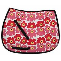 The bright, eye-catching floral design of the Equine Couture Petunia All Purpose Saddle Pad is fun and sure to catch your eye. English Tack, Saddle Pads, Equestrian Style, Horse Tack, Petunias, Horseback Riding, Floral Design, Outdoor Blanket, Horses