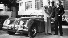 "Jaguar XK120, Clark Gable, and Sir William Lyons, a.k.a. ""Mr. Jaguar"""