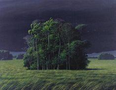 Tomás Sánchez (Cuban, b. 1948), Luz de una tarde de tormenta [Light of a stormy afternoon], 1990. Oil on canvas