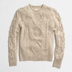 Factory beaded-cable sweater - crewnecks & boatnecks - FactoryWomen's Sweaters - J.Crew Factory