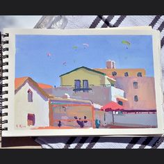 A gouache painting I did last weekend in Sesimbra village.