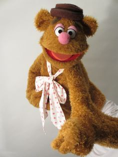 Fozzie Bear – Constructed from foam, Antron fleece and fur. All clothes and accessories are hand made and components assembled by myself.   Disclaimer: This is a replica of a character from the Muppets. All puppets have been made by myself for my own personal collection and not for sale.