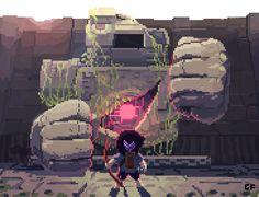 Whats better for @Pixel_Dailies #Titan theme than Titan Souls!? All hail Ludum Dare 28! #pixel_dailies