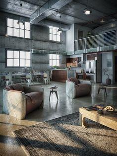 Industrial Inspired Loft Designs Decor In 2020 Industrial Loft