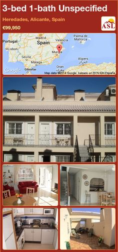 Unspecified for Sale in Heredades, Alicante, Spain with 3 bedrooms, 1 bathroom - A Spanish Life Murcia, Valencia, Portugal, Sun Blinds, Office Games, Permanent Residence, Alicante Spain, Double Bedroom, Kitchen Styling