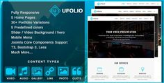 Ufolio - Multipurpose & Portfolio Joomla Template ⠀ Ufolio is Responsive Joomla Template multi purpose, to create pages portfolio and any kind of business as landing pages, corporate, agencies, business and more. Designed for designers, developers, ... ⠀ # #agencies #cmsthemes #contenttypes #joomla #joomlatemplate #joomlatheme #landingpages #parallax #themeforest #unitemplates #audio #business #video #corporate #creative #multipurpose #onepage #responsive #portfolio Video Caption, Create Page, Presentation Backgrounds, Audio, Joomla Templates, Blog Layout, Grid Layouts, Cool Themes