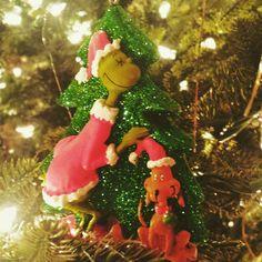 Amateur photography. Grinch Christmas ornament