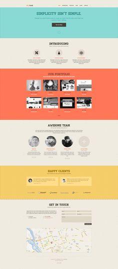 DW One Page Retro - WordPress Theme by DesignWall on Creative Market