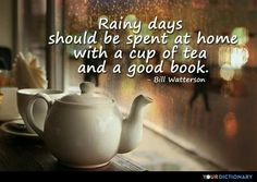 Rainy days and books