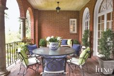 Traditional Brick Covered Patio