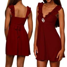 Oklahoma Sooners Ladies Crimson Sorority Girl Sundress