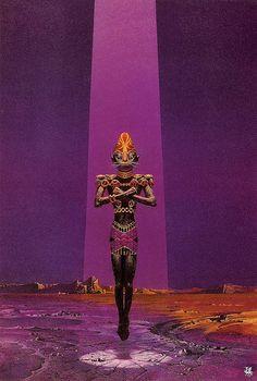 Art by Bruce Pennington - The Alien Way