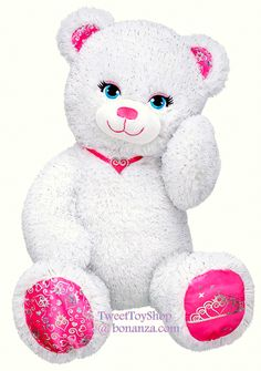 Build a Bear Workshop Sparkly Pawrincess Teddy Princess Themed Stuffed Plush 17 in. Toy With Fur that sparkles and blue eyes, she is sure to get lots of hugs! Decked out in glitz and glam from head to paw, this regal stuffed princess teddy bear shines! Ages 3+  A Very Precious Gift Idea!  In Stock Now at http://www.bonanza.com/listings/Build-a-Bear-Sparkly-Pawrincess-Teddy-Princess-Themed-Stuffed-Plush-17-in-Toy/222434473