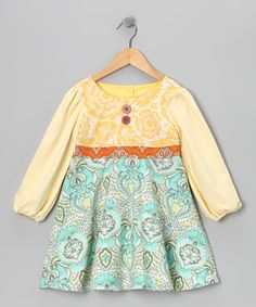 Take a look at this Sunshine Piper Dress - Infant, Toddler & Girls by Moxie & Mabel on #zulily today!
