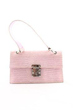 Stuart Weitzman Pink Faux Snakeskin Mini Shoulder Bag - $106