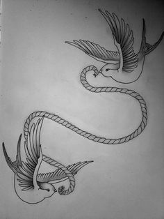 Swallow Tattoo design