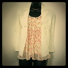 """Pretty floral tank top Sheer floral pattern only in front. The body is 100% rayon. The out shell is 100% polyester  24.5""""length LC Lauren Conrad Tops Tank Tops"""