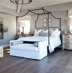 Furniture, lighting and set up are very similar to Rustic Natural Master bedroom color/decor idea. Furniture, lighting and set up are very similar to Rustic Natural Master Bedroom Design, Dream Bedroom, Home Decor Bedroom, Bedroom Designs, Bedroom Furniture, Furniture Market, Bedroom Flooring, Bedroom Inspo, Master Suite