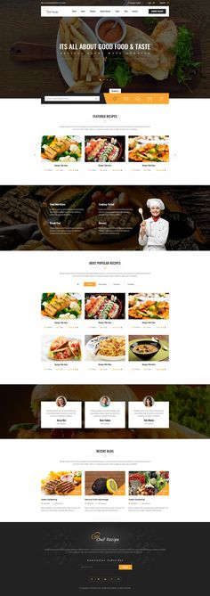 Chef Recipe - Food and Recipe PSD Template • Download ➝…