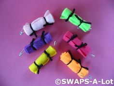 That's how we roll!  SWAPS-A-Lot - Mini Bright BED ROLLS SWAP SWAPS