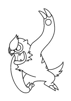 Vigoroth Pokemon Coloring Page Do You Like This There Are Many Others In NORMAL POKEMON Pages