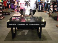 Nike Air Max 2015 retail table display sports shoe display.