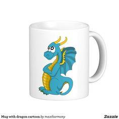 Mug with dragon cartoon