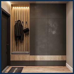 Idea for a narrow long corridor. Do you like dark color in . Idea for a narrow long corridor. Do you like dark color in …- Hall Wardrobe, Wardrobe Door Designs, Wardrobe Design Bedroom, Closet Designs, Apartment Entrance, Home Entrance Decor, House Entrance, Entryway Decor, Home Decor