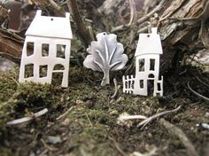 Little Sterling Silver House Pendant #pendant #silver