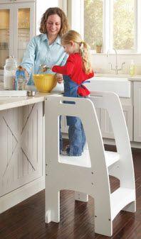 White Step-Up Kitchen Helper