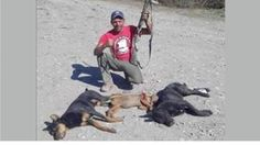 Punish coward that SHOT pack of dogs and barbecued them later!                Social media users are boiling after a man posted this photo on his Facebook profile. The lowlife gives the thumbs up and a vic...