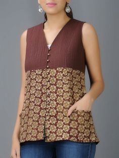 Fabindia Com Cotton Kalamkari Boat Neck Top From India