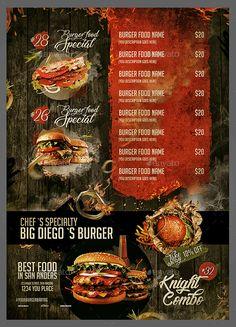 Menu Burger Bar #Menu, #Burger, #Bar Pizza Menu Design, Cafe Menu Design, Menu Card Design, Food Menu Design, Food Poster Design, Stationery Design, Restaurant Menu Card, Burger Restaurant, Restaurant Menu Design