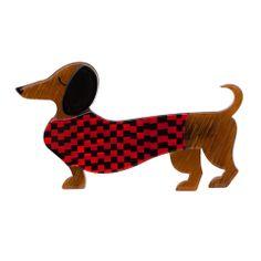 Erstwilder - Samuel the Silly Sausage brooch Dog Jewelry, Resin Jewelry, Clay Cats, Arte Dachshund, Weenie Dogs, Quirky Gifts, Dog Art, Animal Kingdom, Scooby Doo