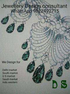 Jewelry Sketch, Jewelry Drawing, Jewellery Sketches, Jewelry Illustration, Sketching, Jewelry Necklaces, Diamonds, Collar Necklace, Diamond