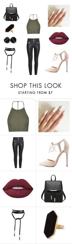 """""""Cropped To Perfection"""" by parislove-jr on Polyvore featuring Topshop, Charlotte Russe, Lime Crime and Jaeger"""